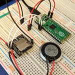 Raspberry Pi PicoとDFPlayer miniとスピーカーを繋いだ回路